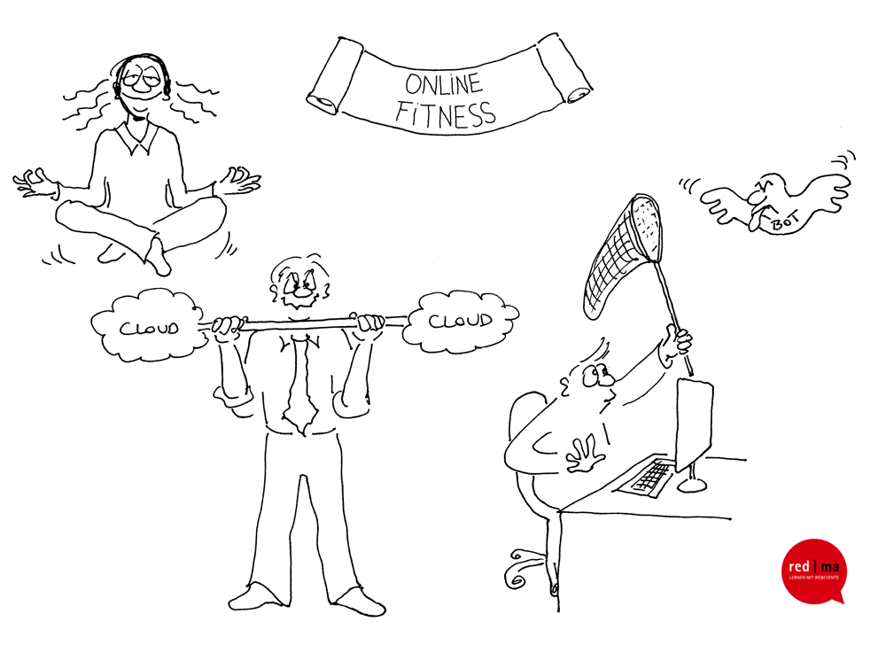 Cartoon Online Fitness